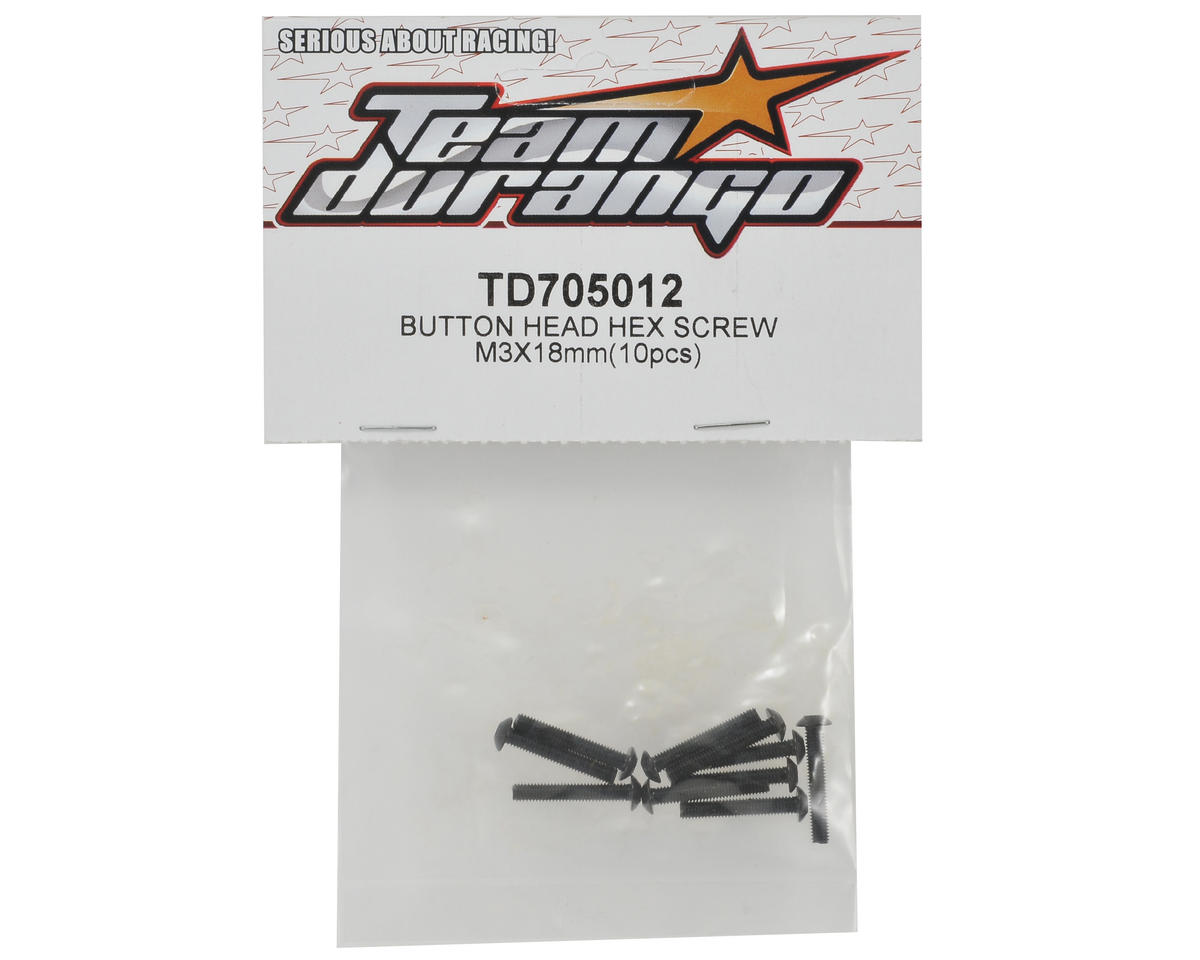 Team Durango 3x18mm Button Head Screw Set (10)