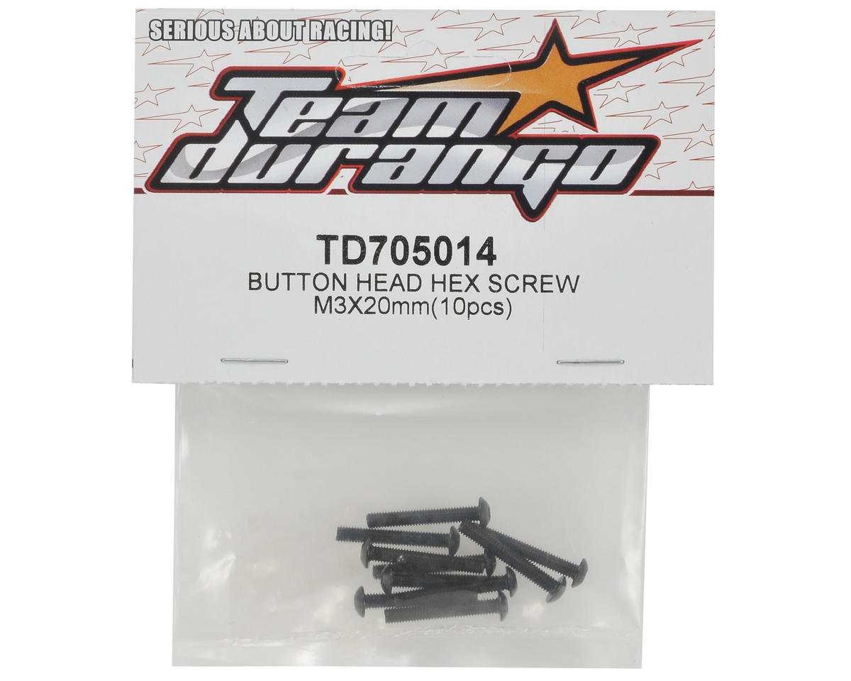 Team Durango 3x20mm Button Head Screw Set (10)
