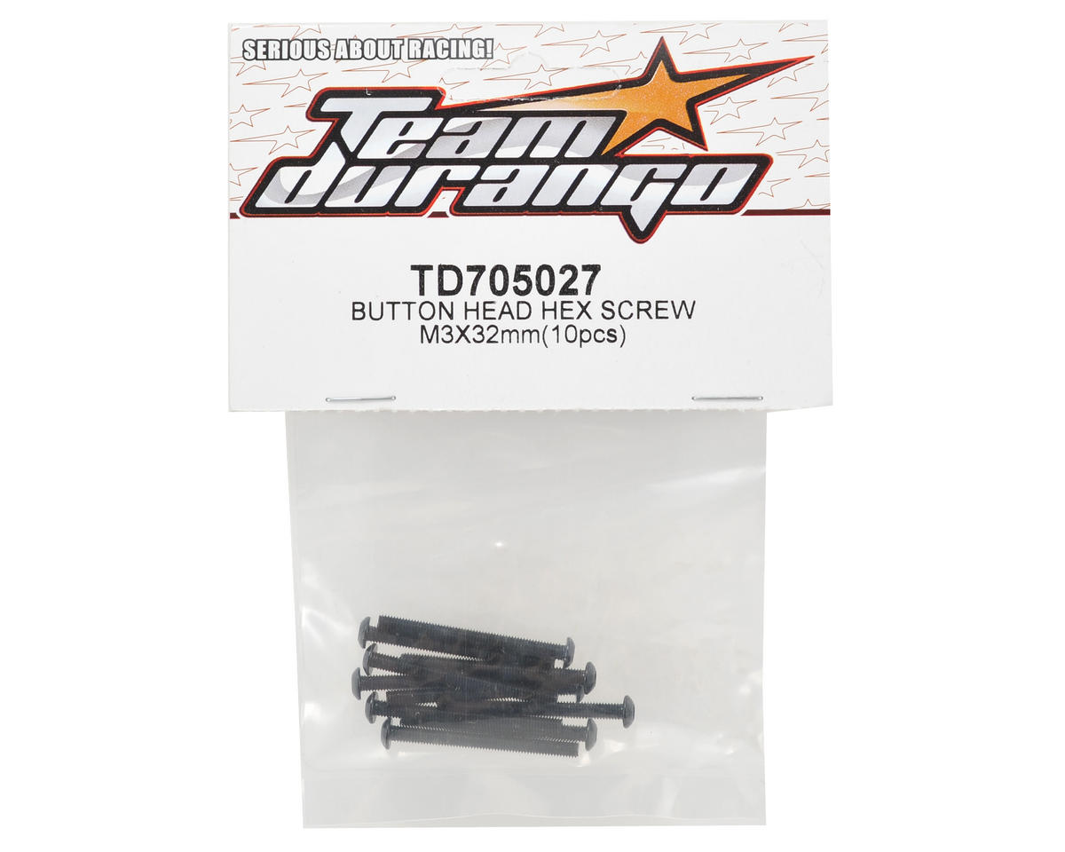 Team Durango 3x32mm Button Head Hex Screw (10)