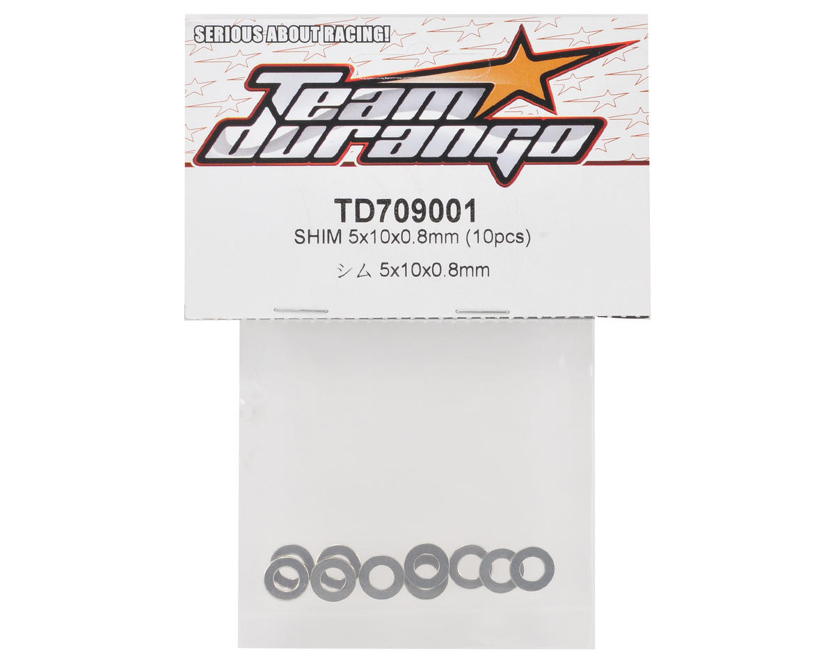 Team Durango 5x10x0.8mm Shim Set (10)