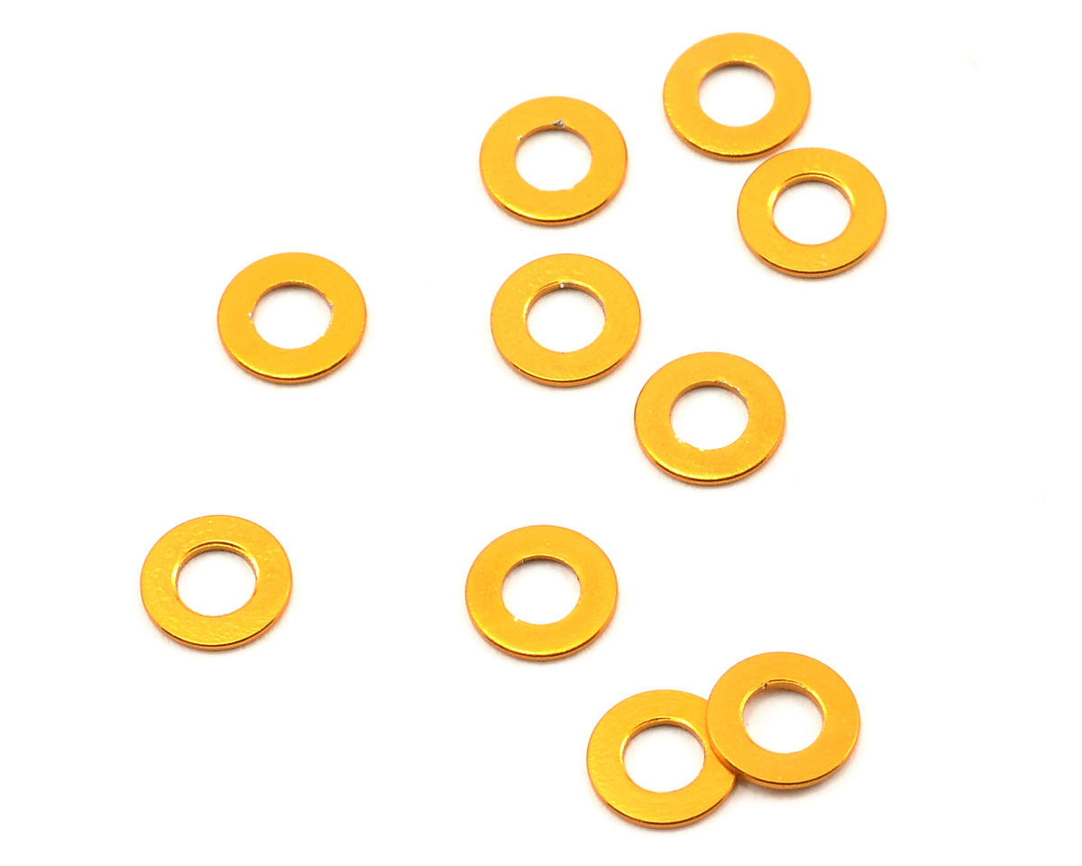 Team Durango DEX410 6x3x0.5mm Aluminum Servo Washer Set (10)