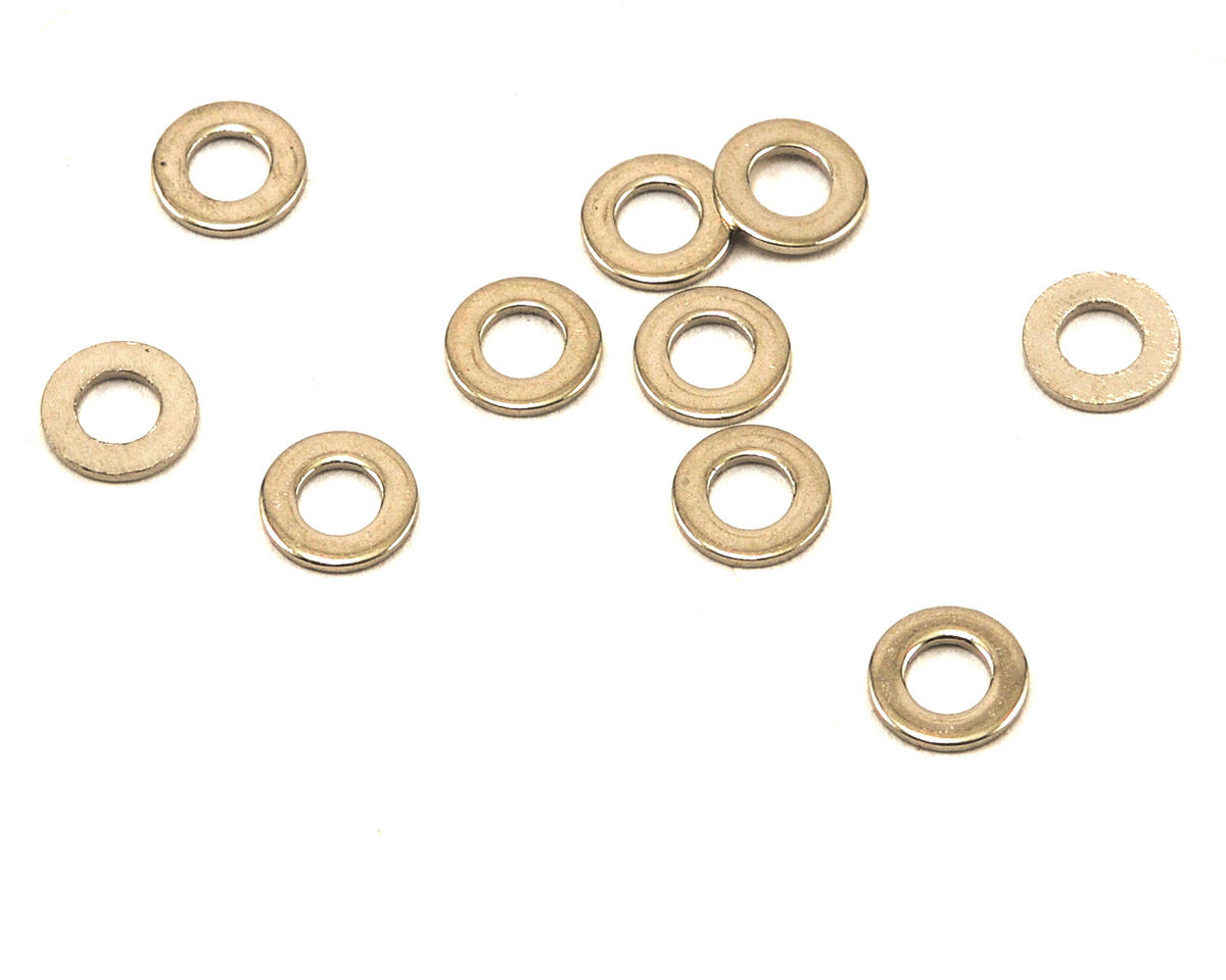 Team Durango 2.5mm Chrome Shock Piston Washer Set (10)