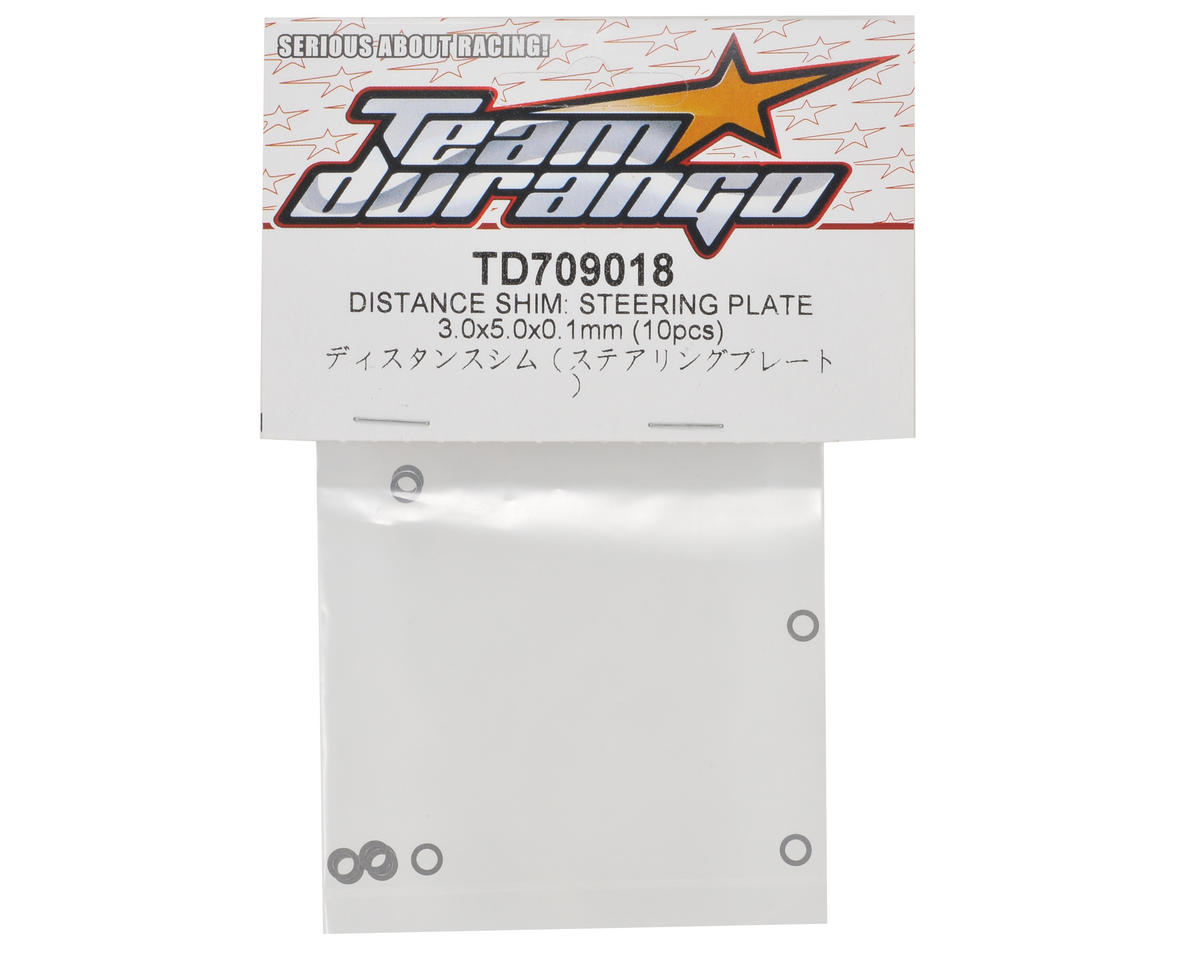 Team Durango 3.0x5.0x0.1mm Steering Plate Shim Set (10)