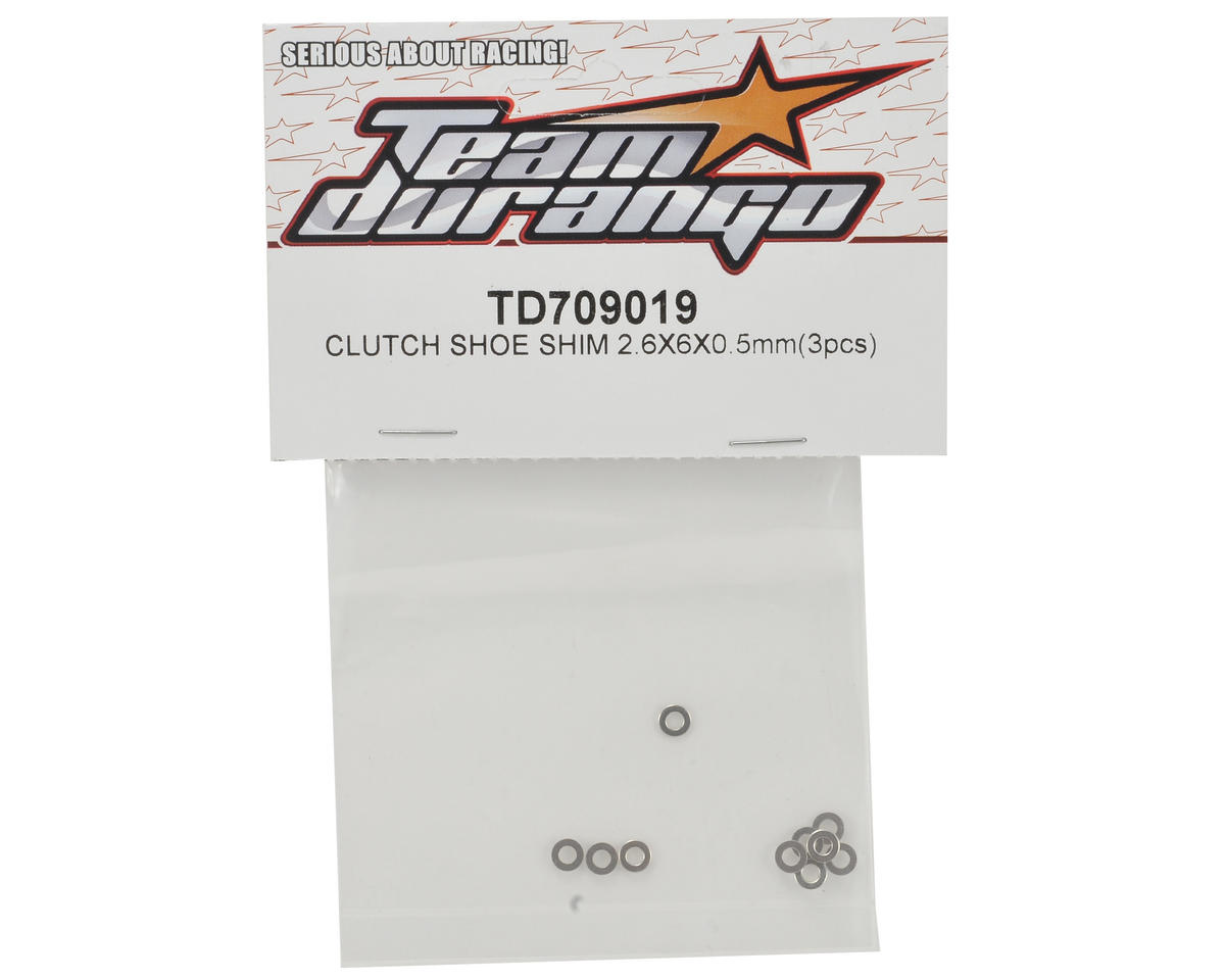 Team Durango 2.6x6x0.5mm Clutch Shoe Shim (3)