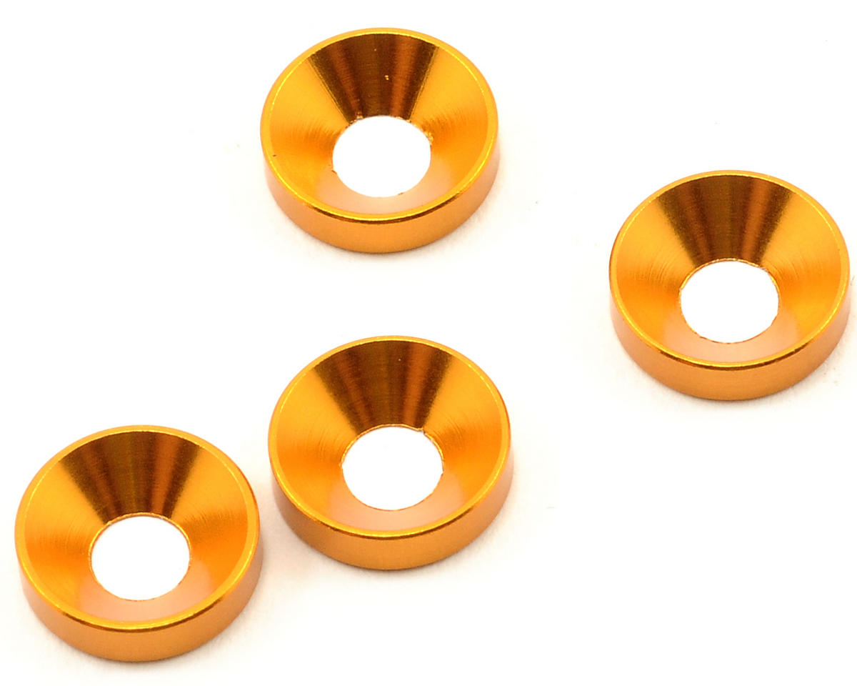 Team Durango 4mm Countersunk Washer Set (4)