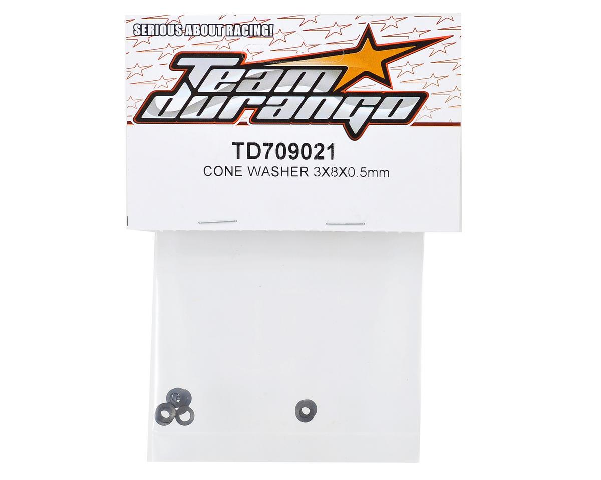 Team Durango 3x8x0.5mm Cone Washer (20)