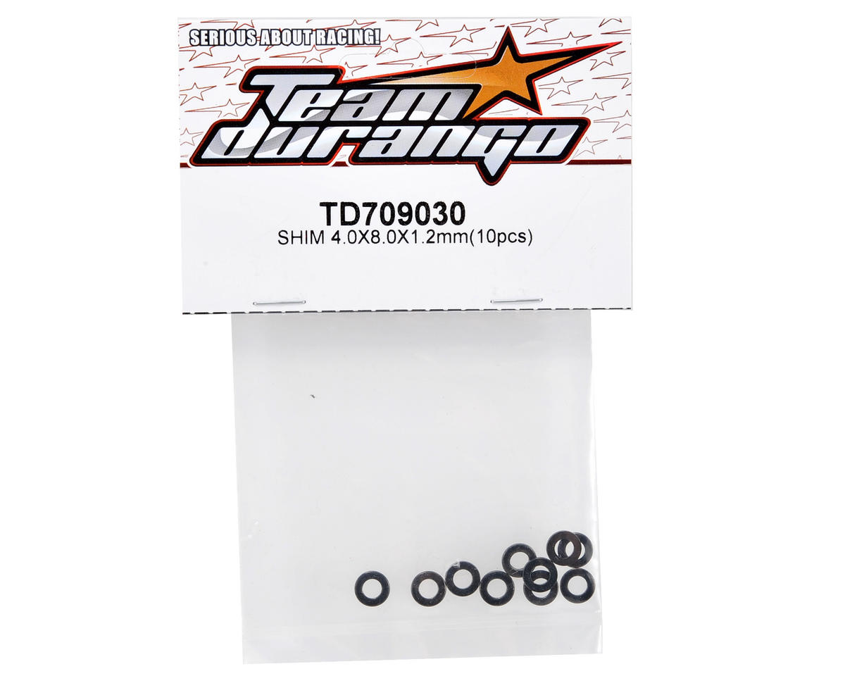 Team Durango 4x8x1.2mm Shim Set (10)