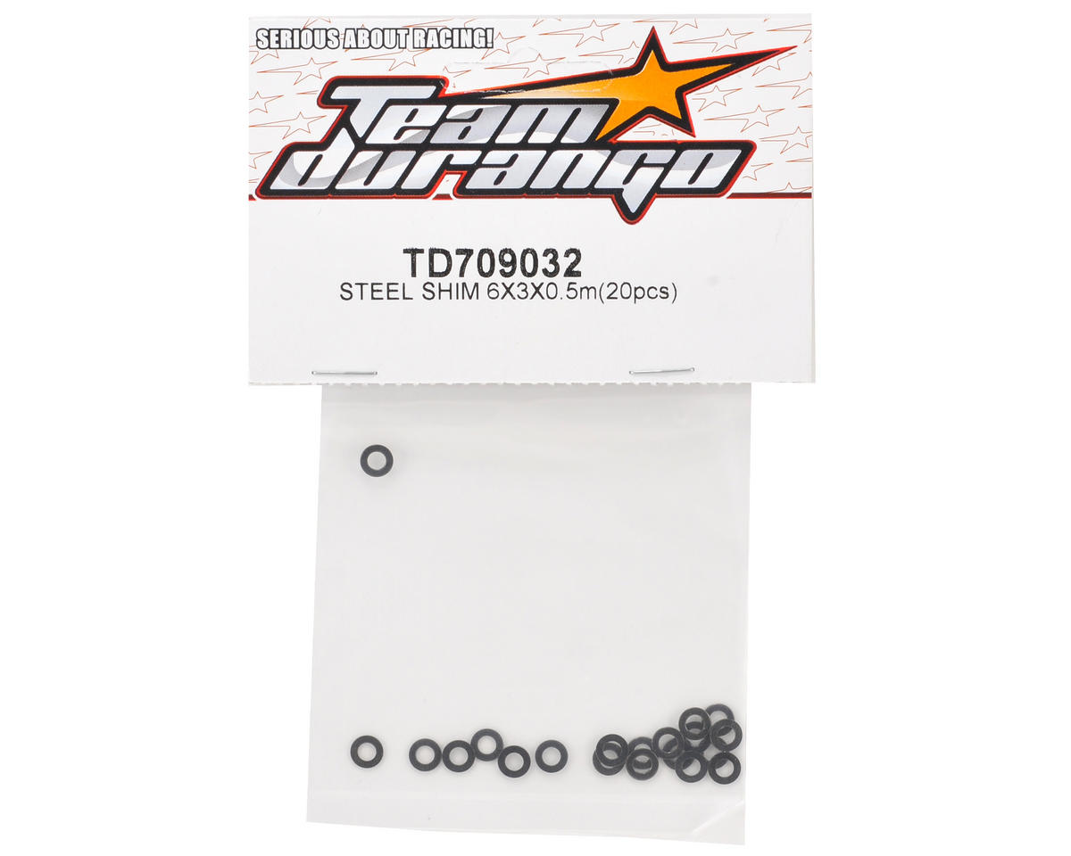 Team Durango 6x3x0.5mm Steel Shim (20)