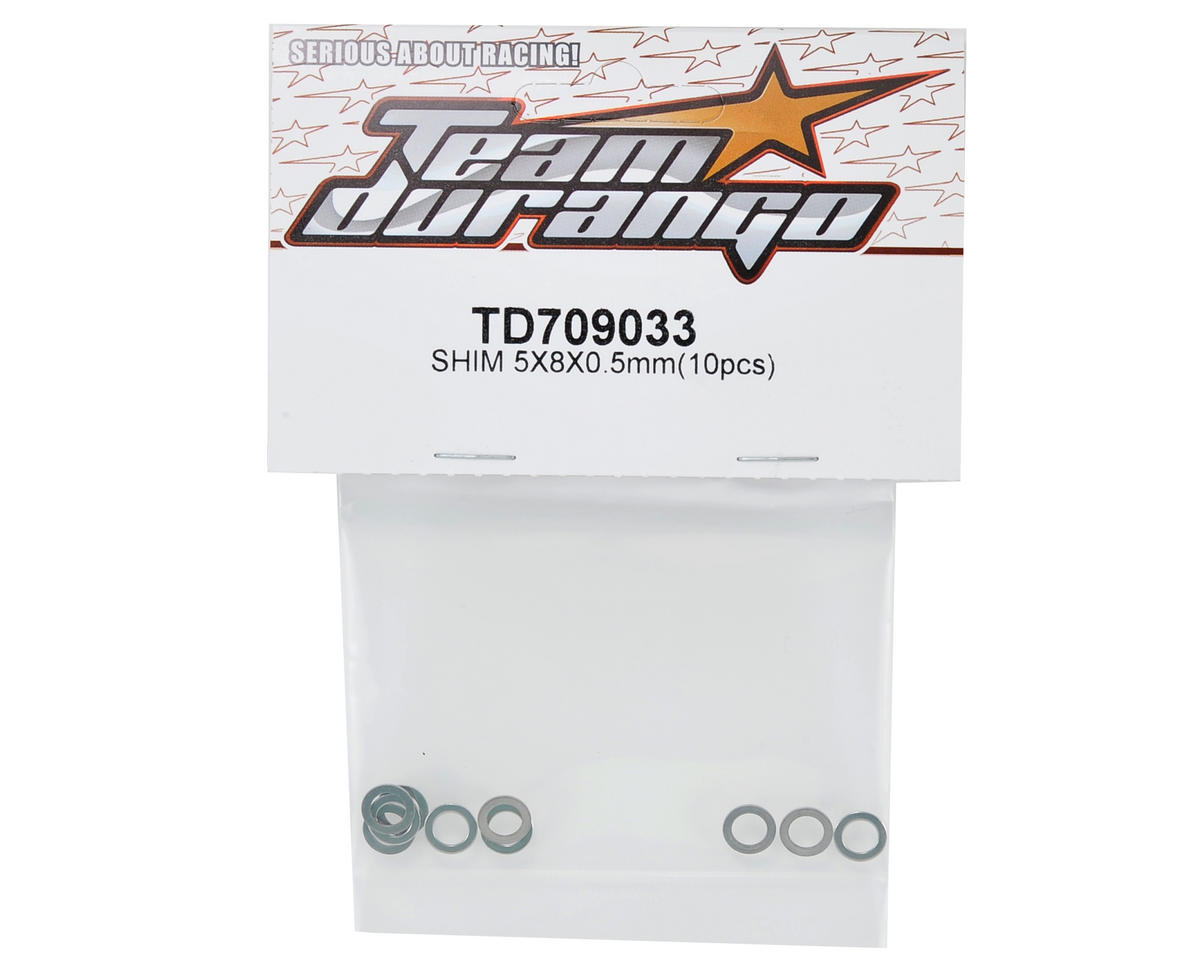 Team Durango 5x8x0.5mm Idler Gear Shim Set (10)