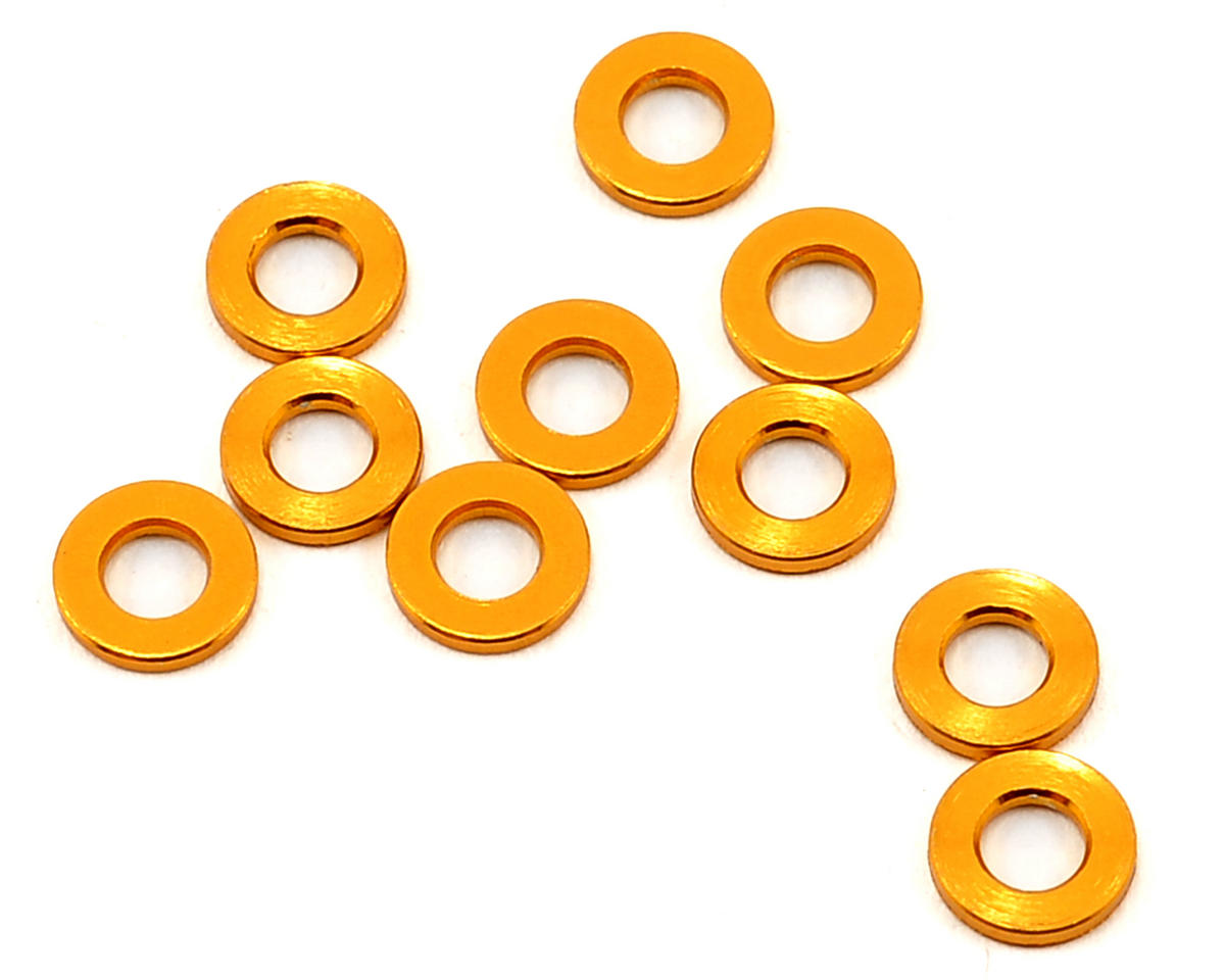 Team Durango DETC410 6x3x1mm Aluminum Spacer (Gold) (10)