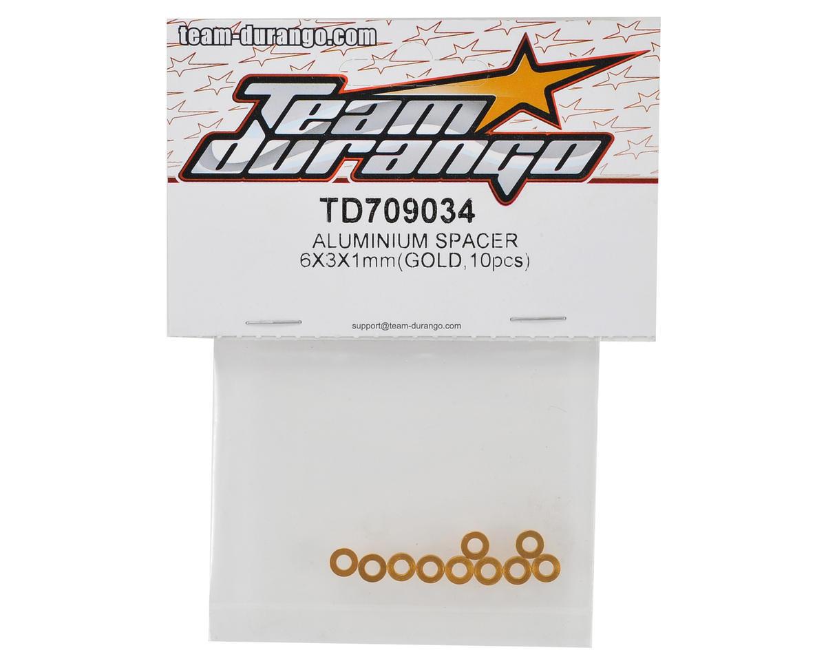 GOL Team Durango TD709034 ALUMINIUM SPACER 6x3x1MM