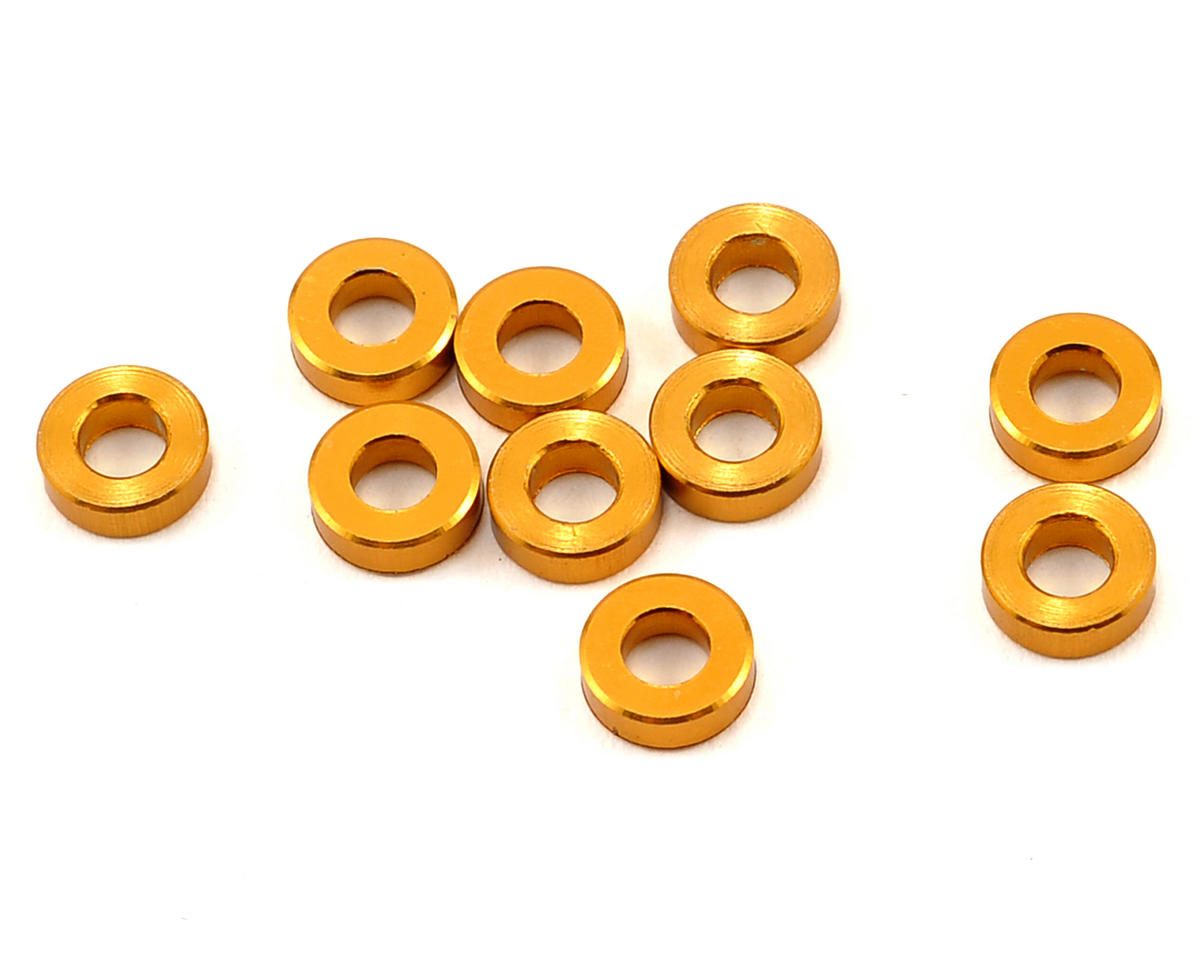 Team Durango DEX410 V5 6x3x2mm Aluminum Spacer (Gold) (10)