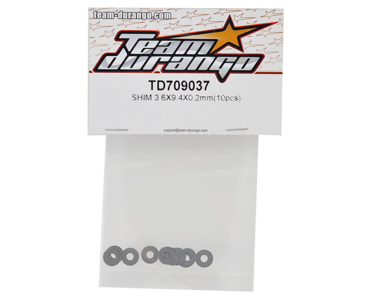 Team Durango 3.6x9.4x.2mm Shim (10)