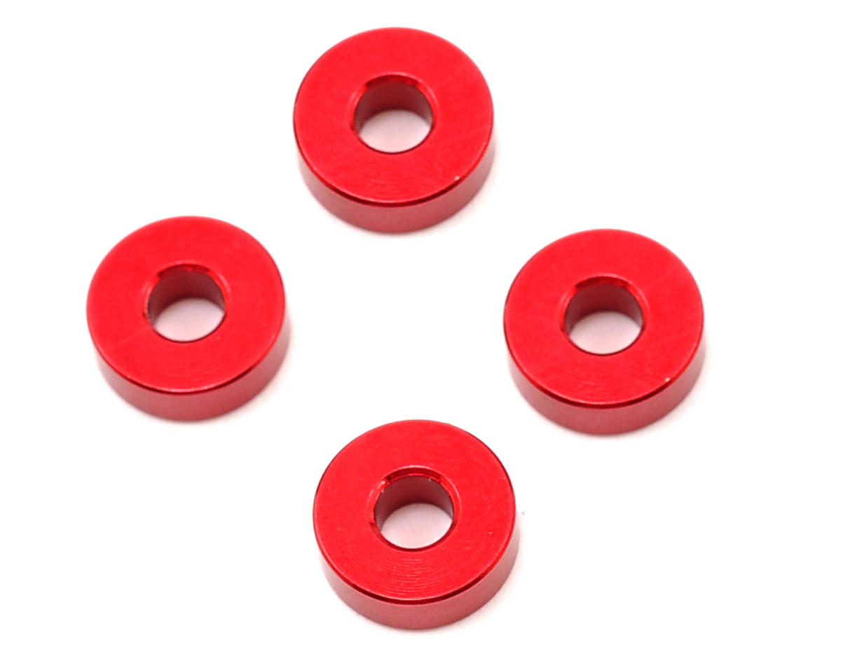 Team Durango 8x3x2.8mm Aluminum Spacer (Red) (4)