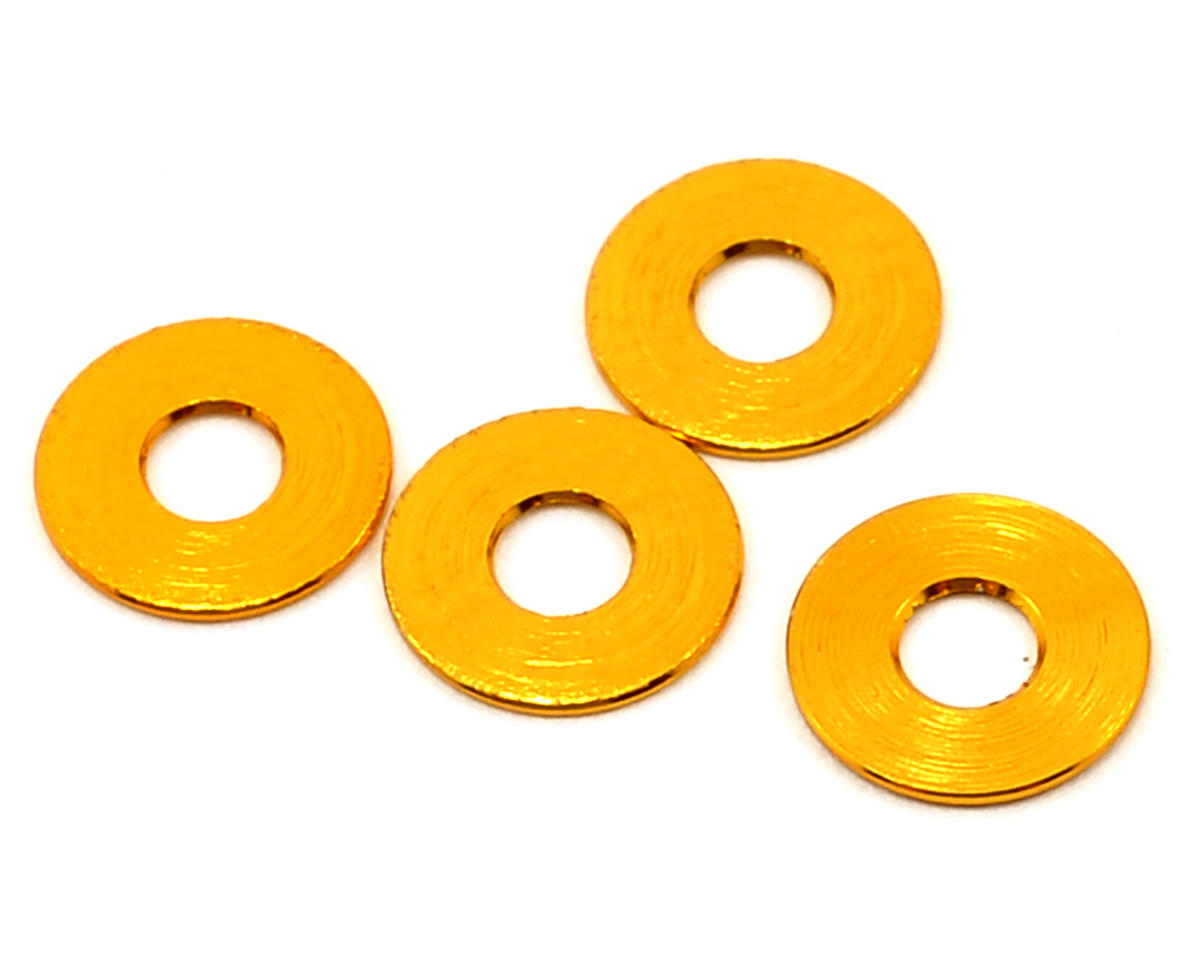 Team Durango 8x3x0.5mm Aluminum Spacer (Gold) (4)