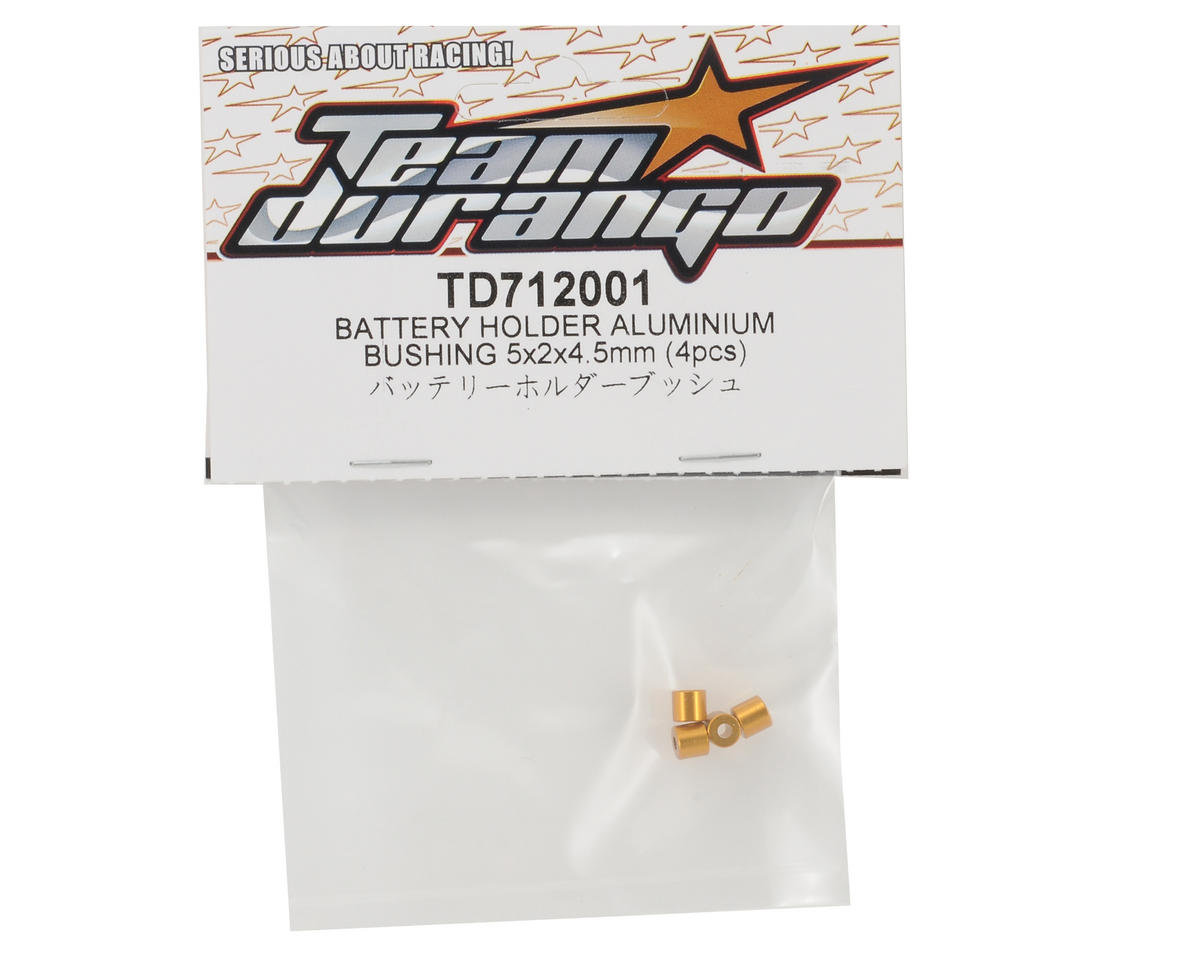 Team Durango 5x2x4.5mm Aluminum Battery Holder Bushing Set (4)