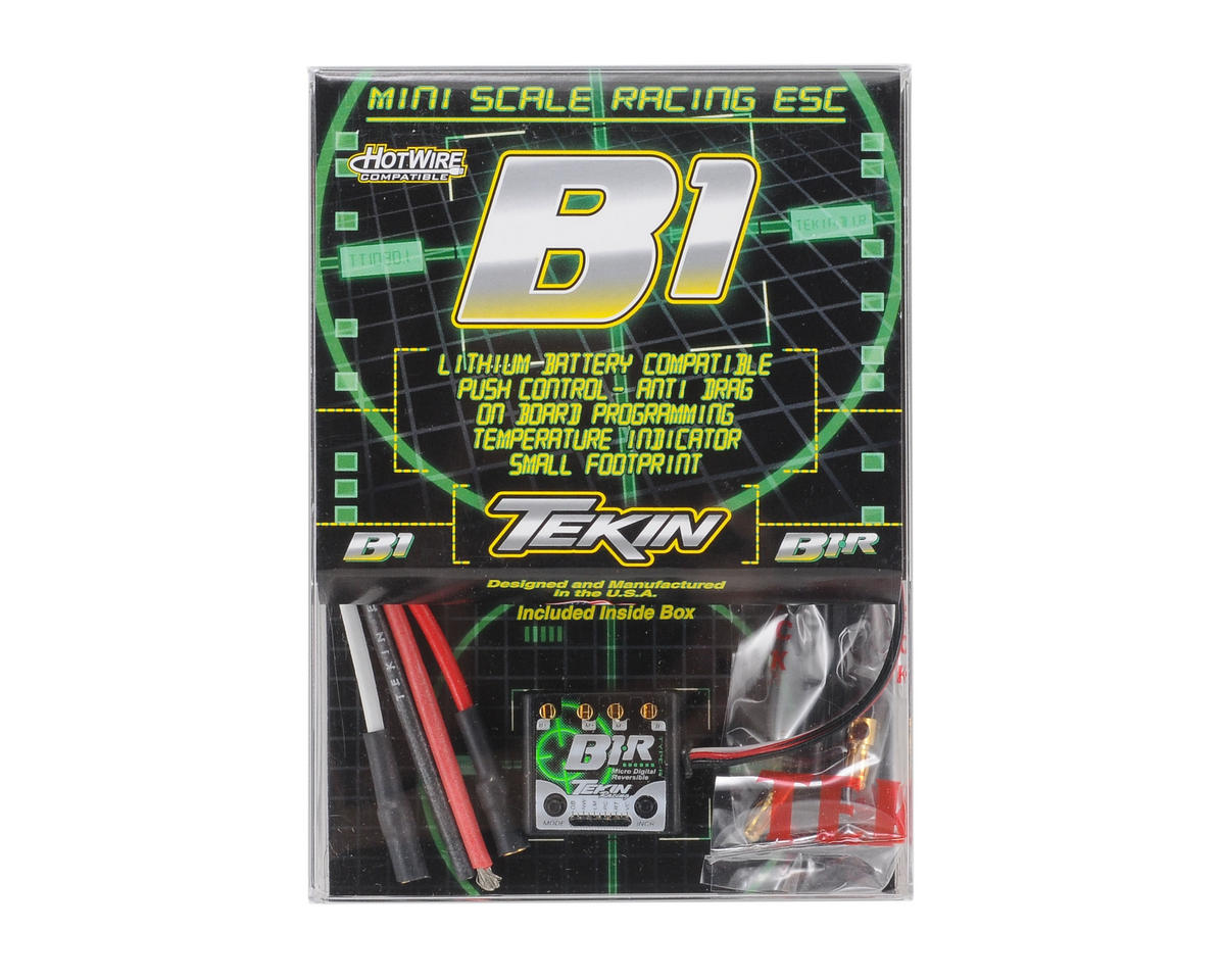 B1-R 1/18th Brushed Forward/Reverse ESC by Tekin