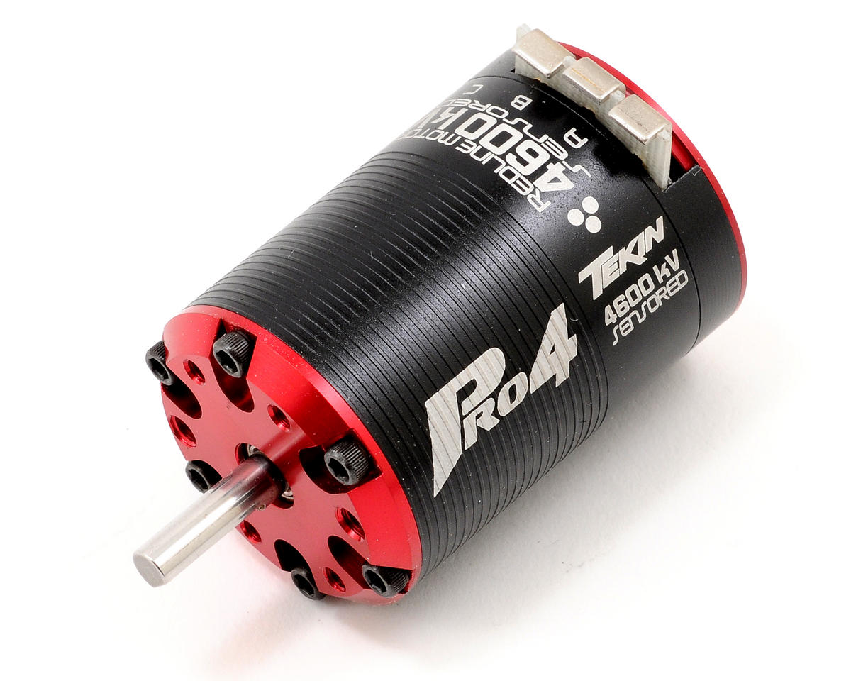 Pro4 4-Pole Brushless Motor w/5mm Shaft (4,600kV) by Tekin