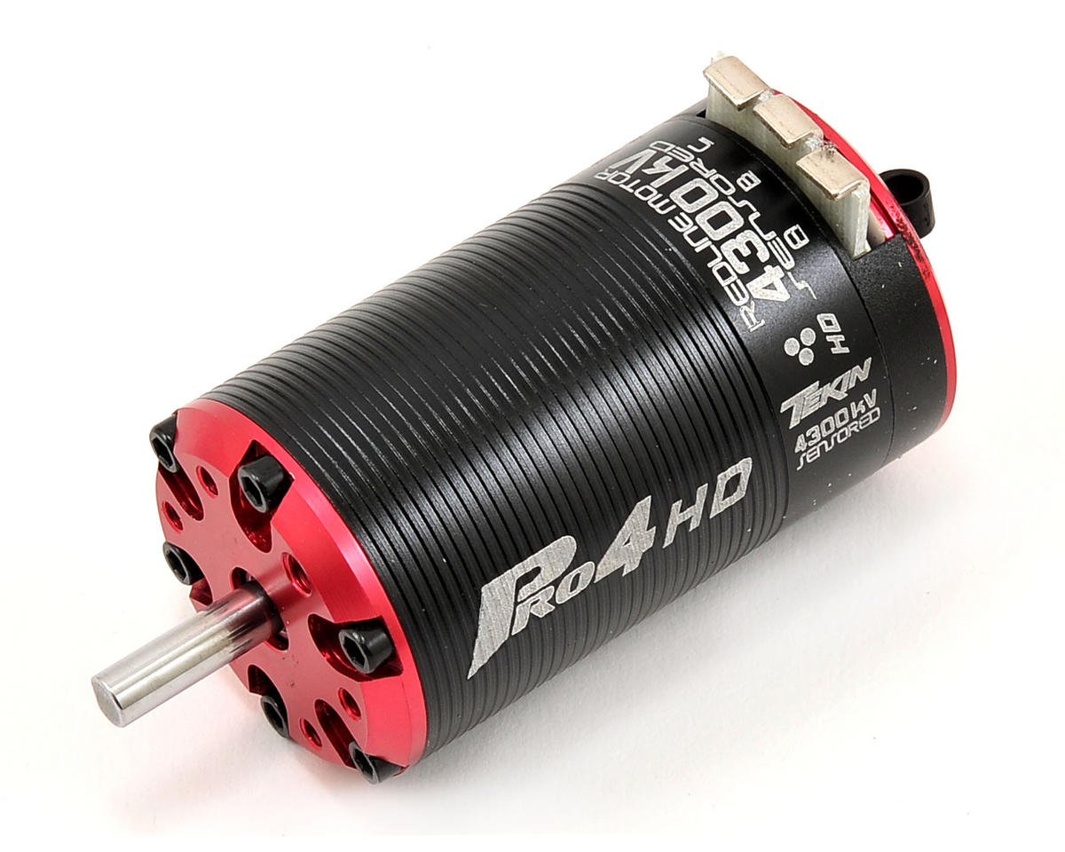 Pro4 HD 4-Pole Brushless 550 Motor w/5mm Shaft (4,300kV) by Tekin