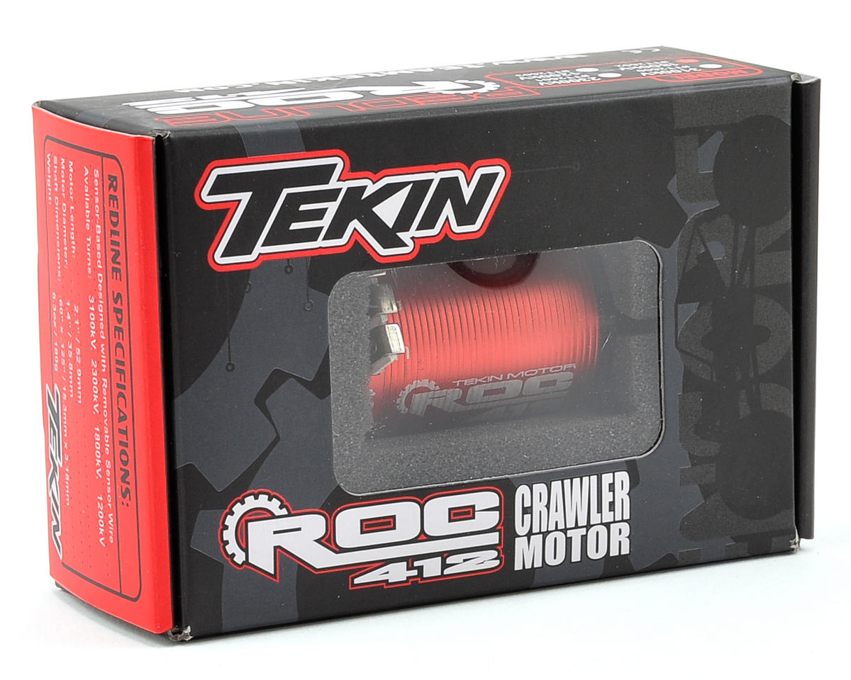 ROC 412 4-Pole Sensored Brushless Rock Crawler Motor (1800kV) by Tekin