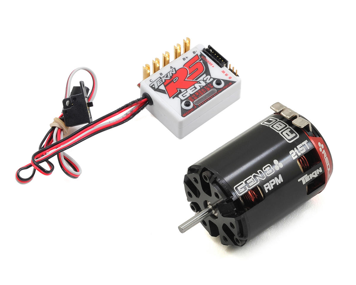 Tekin RS Gen2 Sensored Brushless ESC/Gen3 Motor Combo (21.5T RPM)