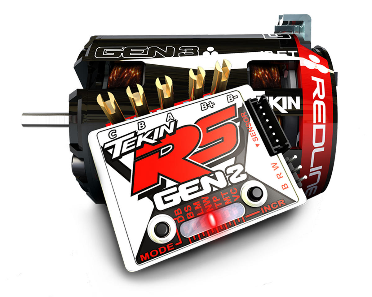 RS Gen2 Sensored Brushless ESC/Gen3 Motor Combo (17.5T RPM) by Tekin
