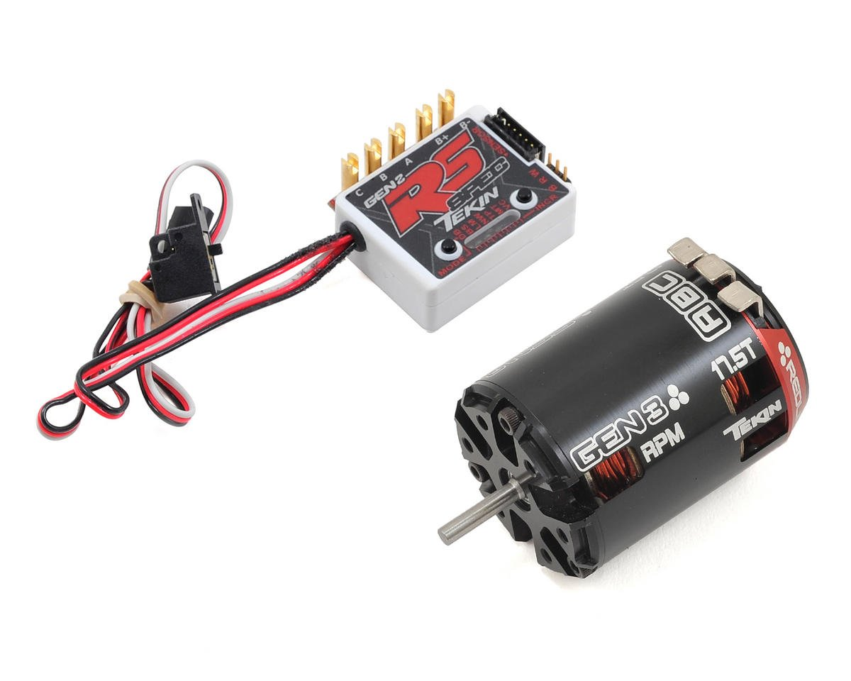 RS Gen2 SPEC Sensored Brushless ESC/Gen3 Motor Combo (17.5T RPM) by Tekin