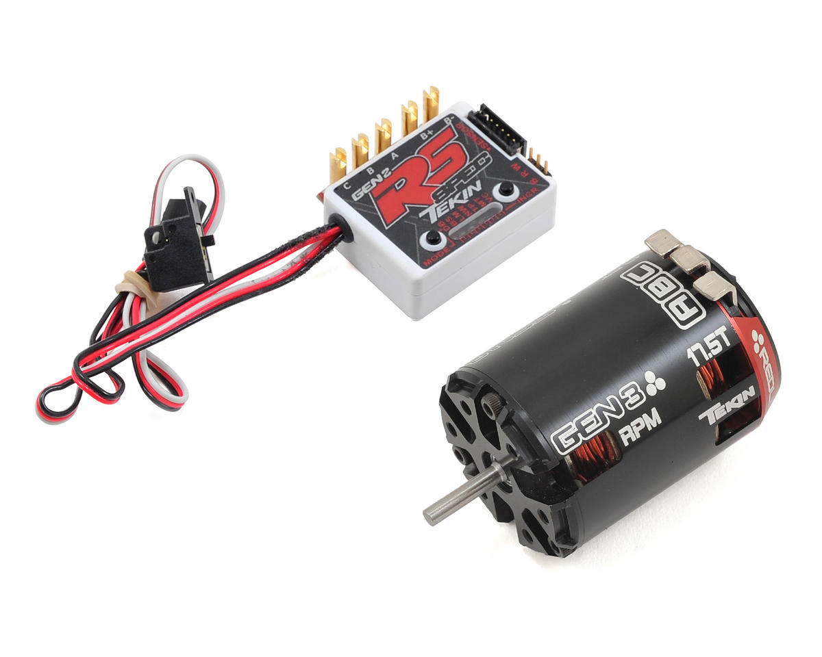 Tekin RS Gen2 SPEC Sensored Brushless ESC/Gen3 Motor Combo (17.5T RPM)