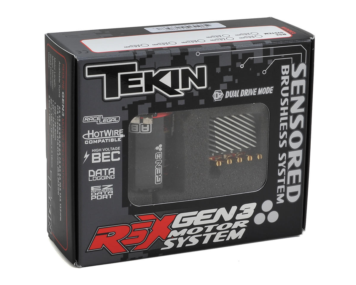 RSX Sensored Brushless ESC/Gen3 Motor Combo (5.5T) by Tekin