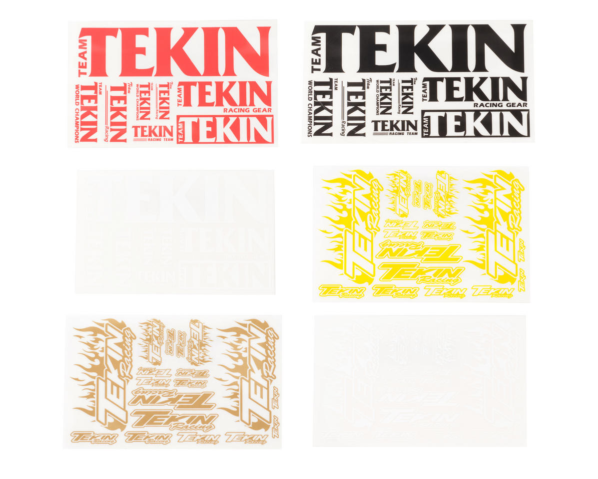 Image 1 for Tekin 3x5 5 Color Decal Set (6)