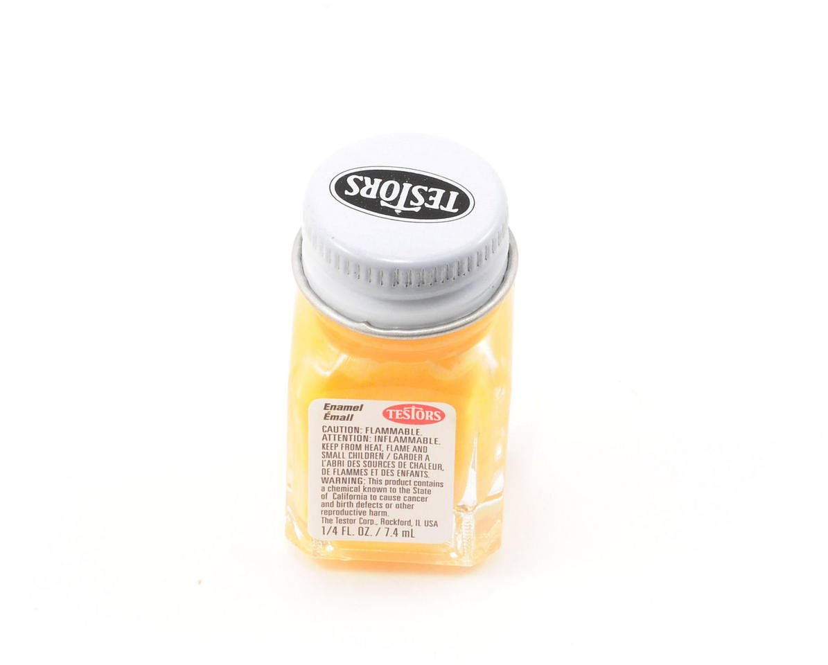 Testors Yellow Enamel Paint 1/4oz