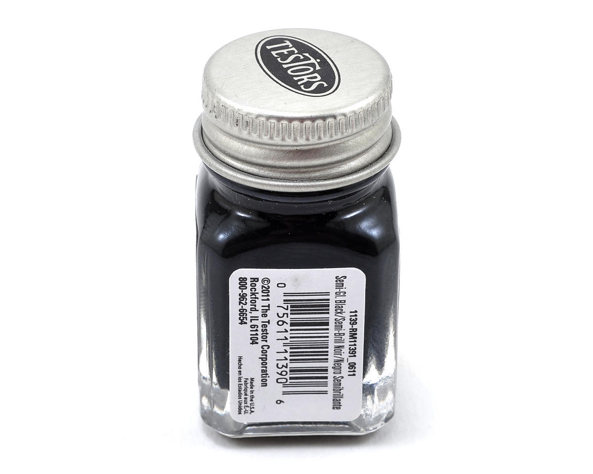 Testors Black Semi-Gloss Enamel Paint 1/4oz