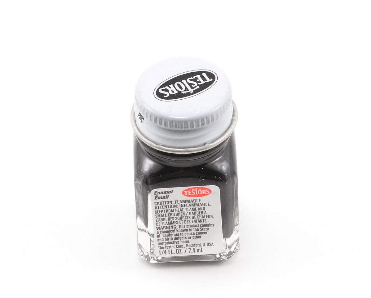 Testors Black Enamel Paint 1/4oz