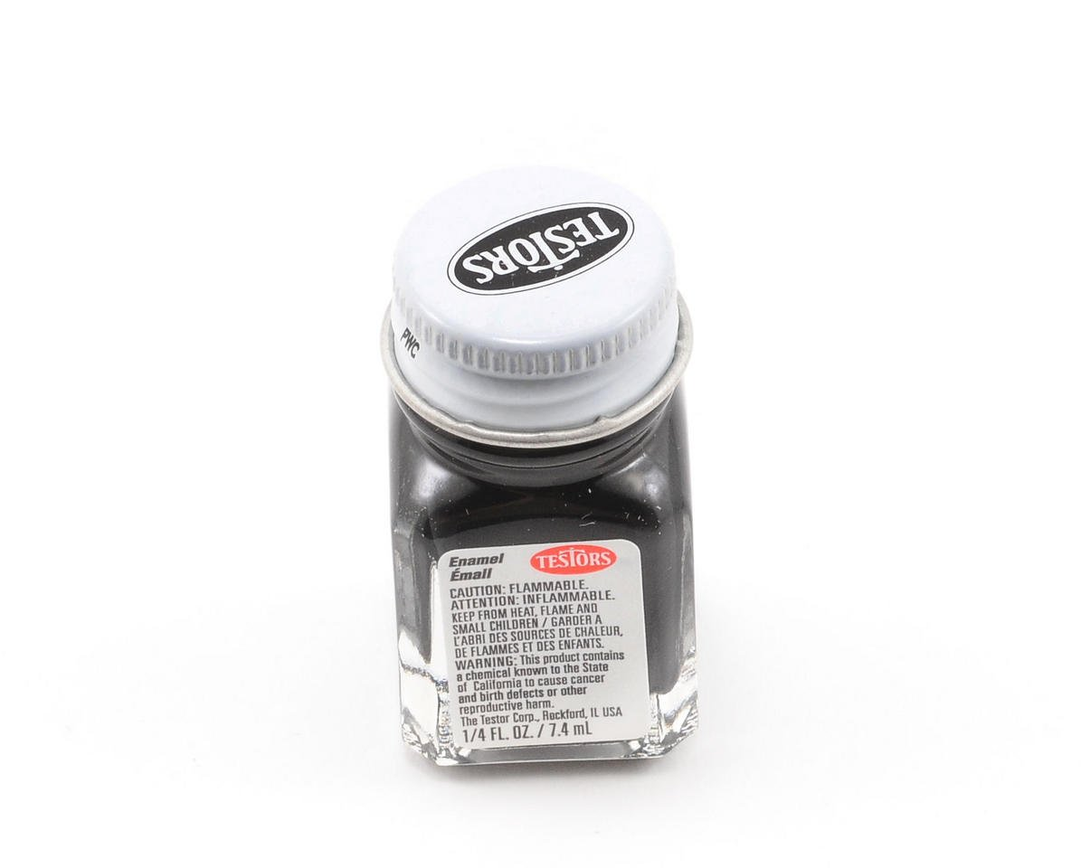 Black Enamel Paint 1/4oz by Testors