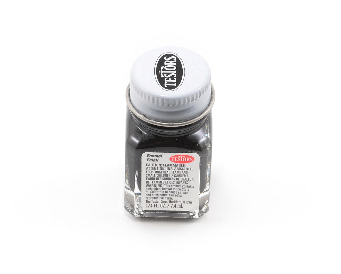 Testors Flat Black Enamel Paint 1/4oz