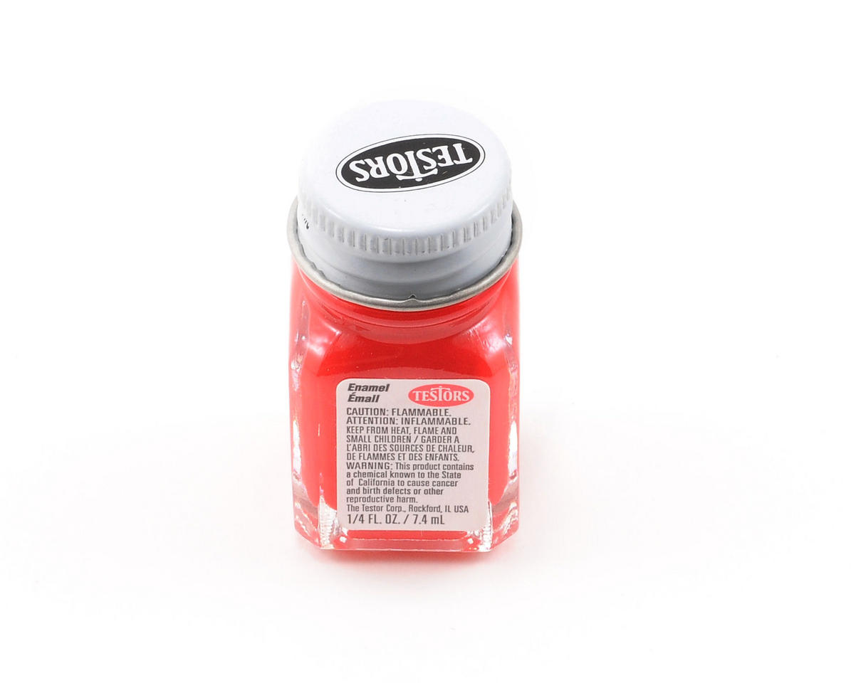 Testors Flat Red Enamel Paint 1/4oz