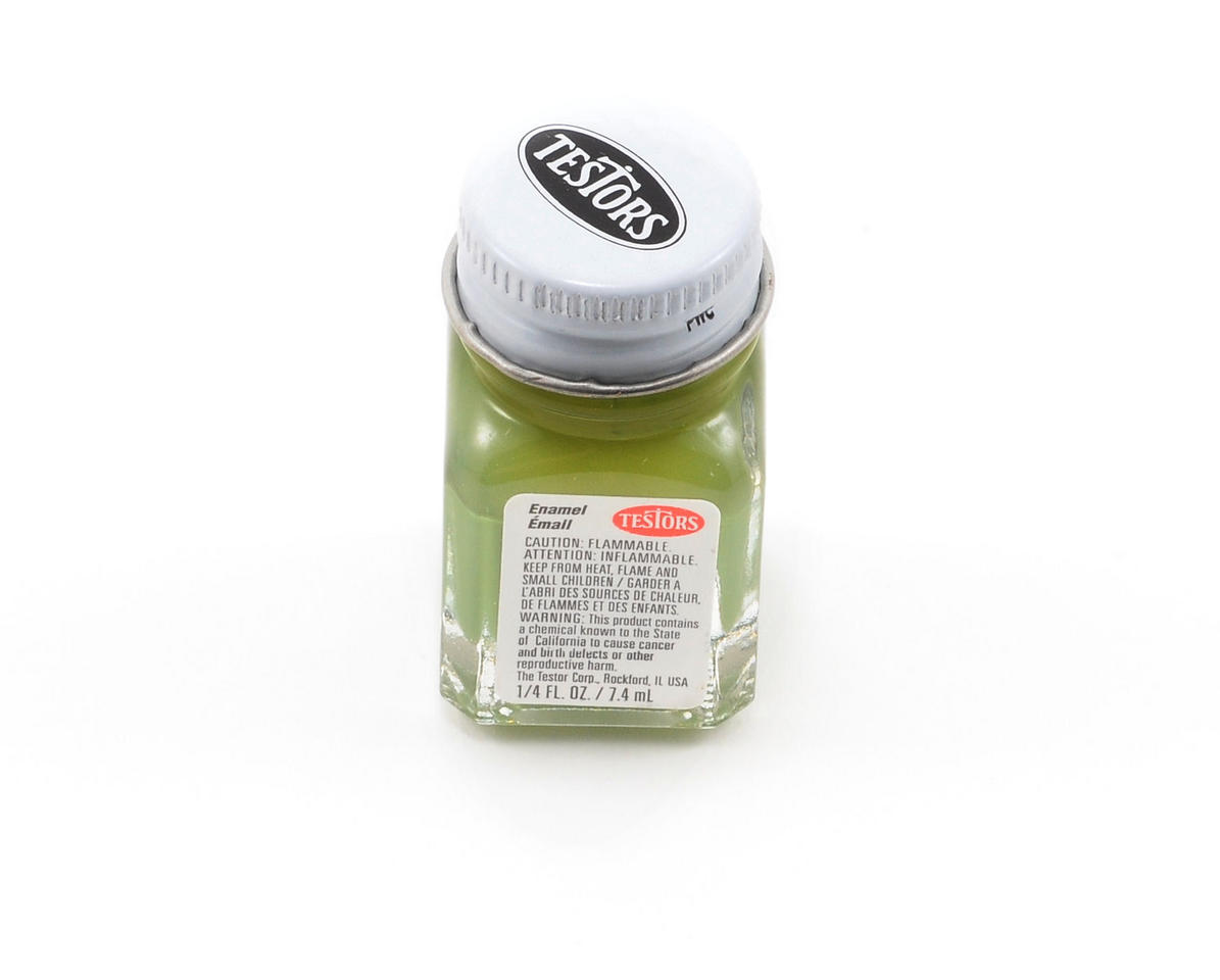 Flat Olive Green Enamel Paint 1/4oz by Testors