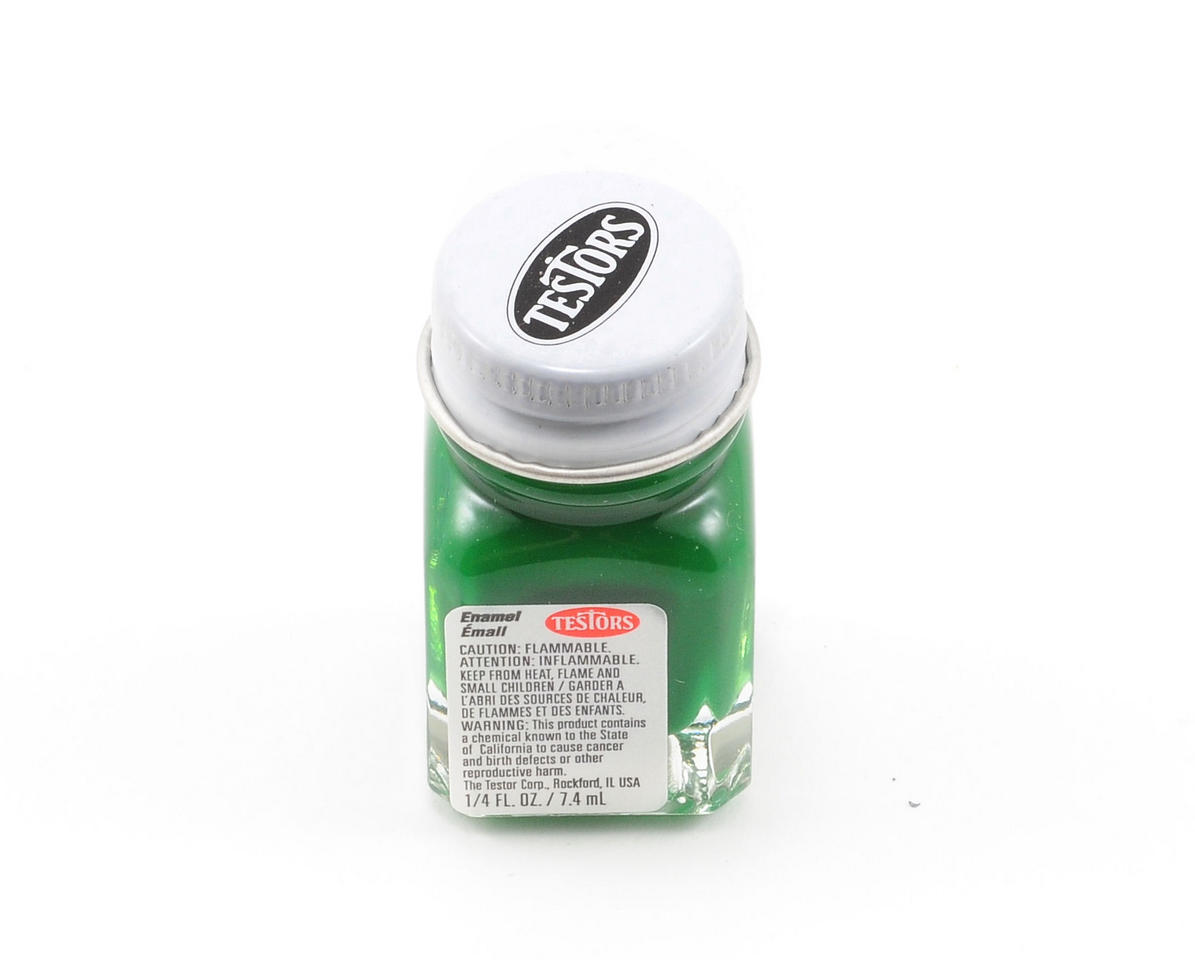 Testors Flat Green Enamel Paint 1/4oz