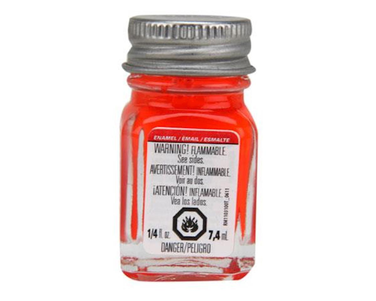 Testors Enamel 1/4oz, Red Fluorescent