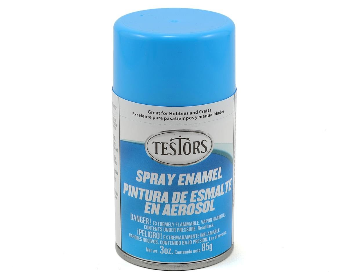 Testors Light Blue Spray Enamel Paint (3oz)
