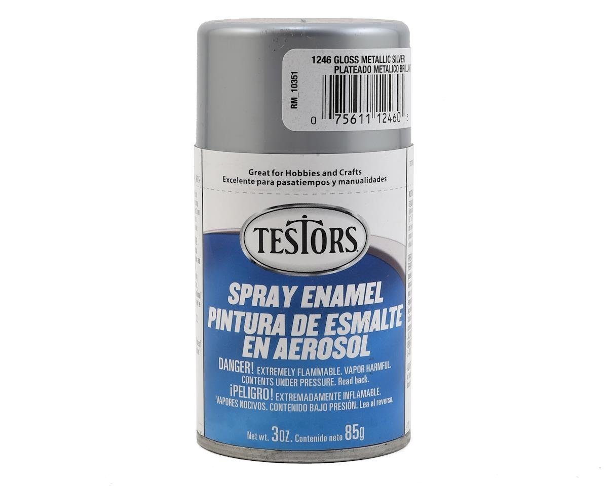 Testors Metallic Silver Enamel Spray Paint (3oz)