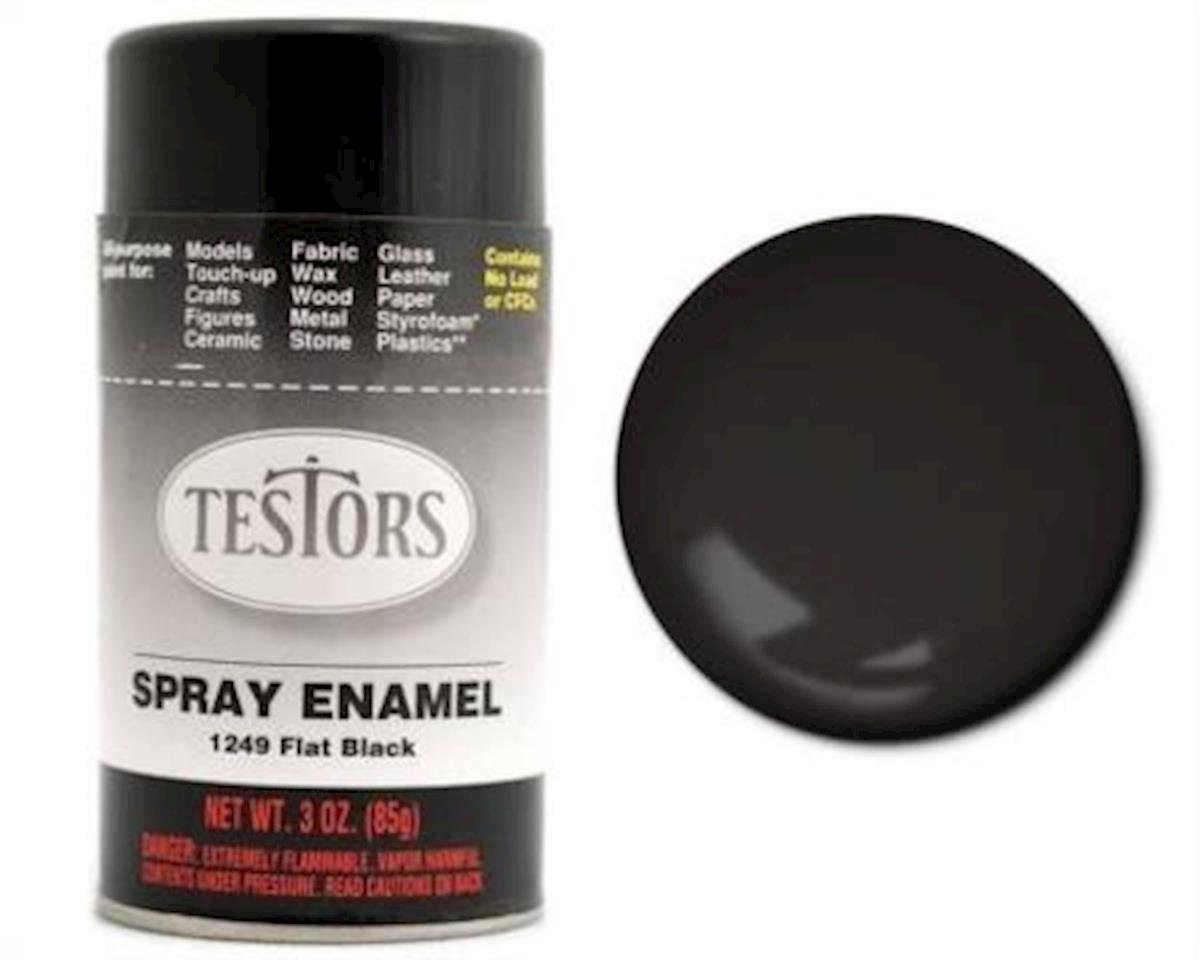 Testors FLAT BLACK SPRAY