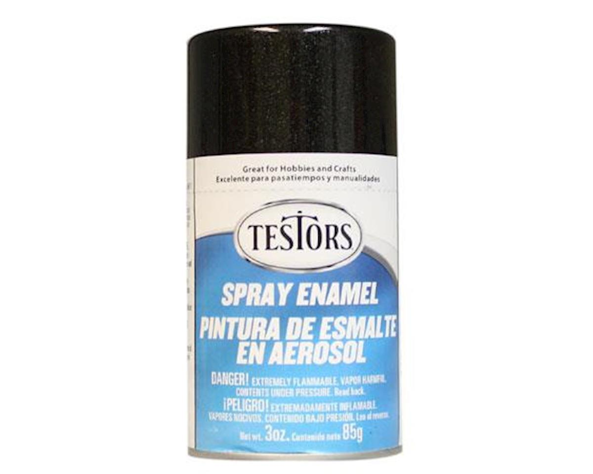 Testors Spray 3oz Black Metallic Enamel