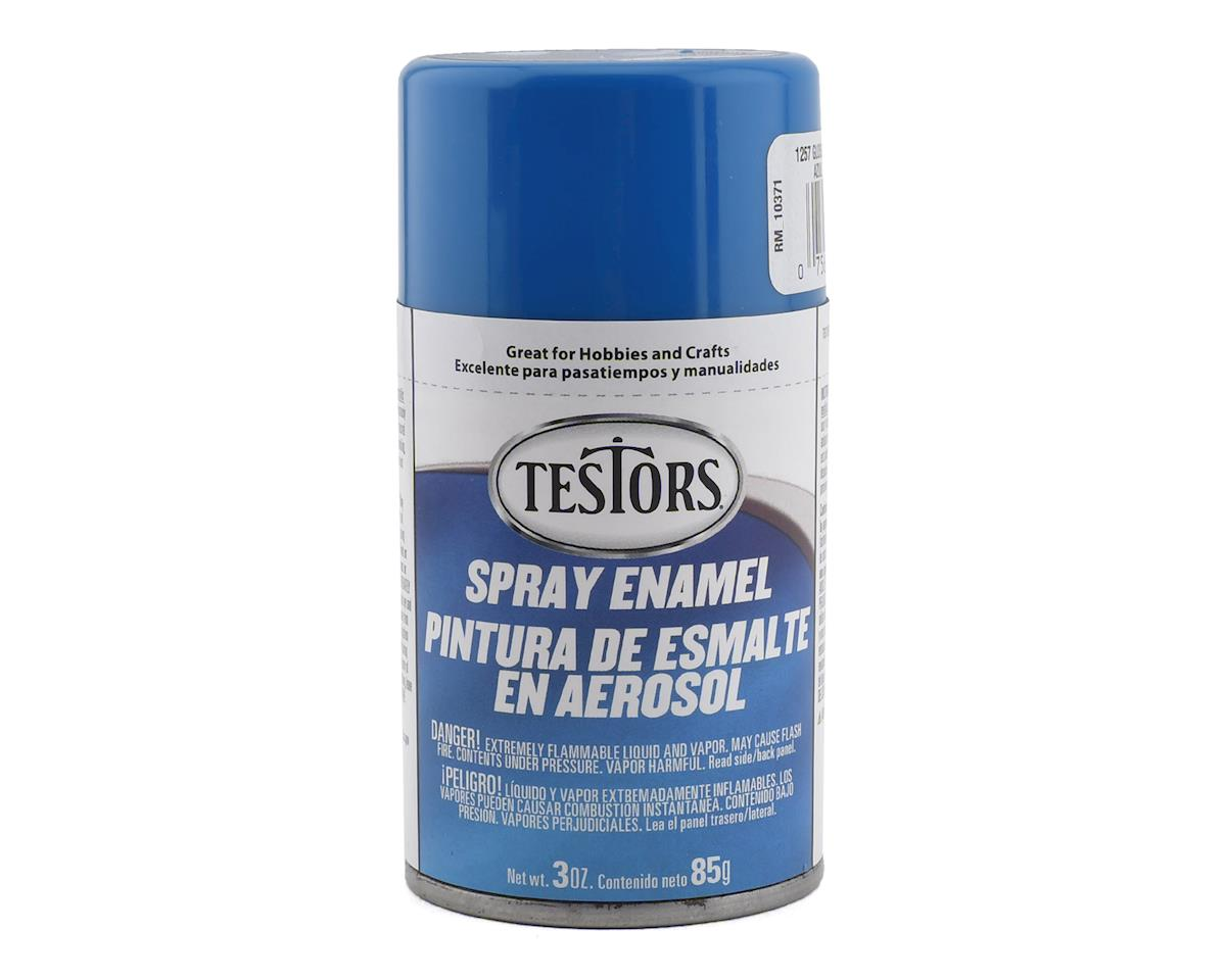 Testors Spray 3oz Tran Blue