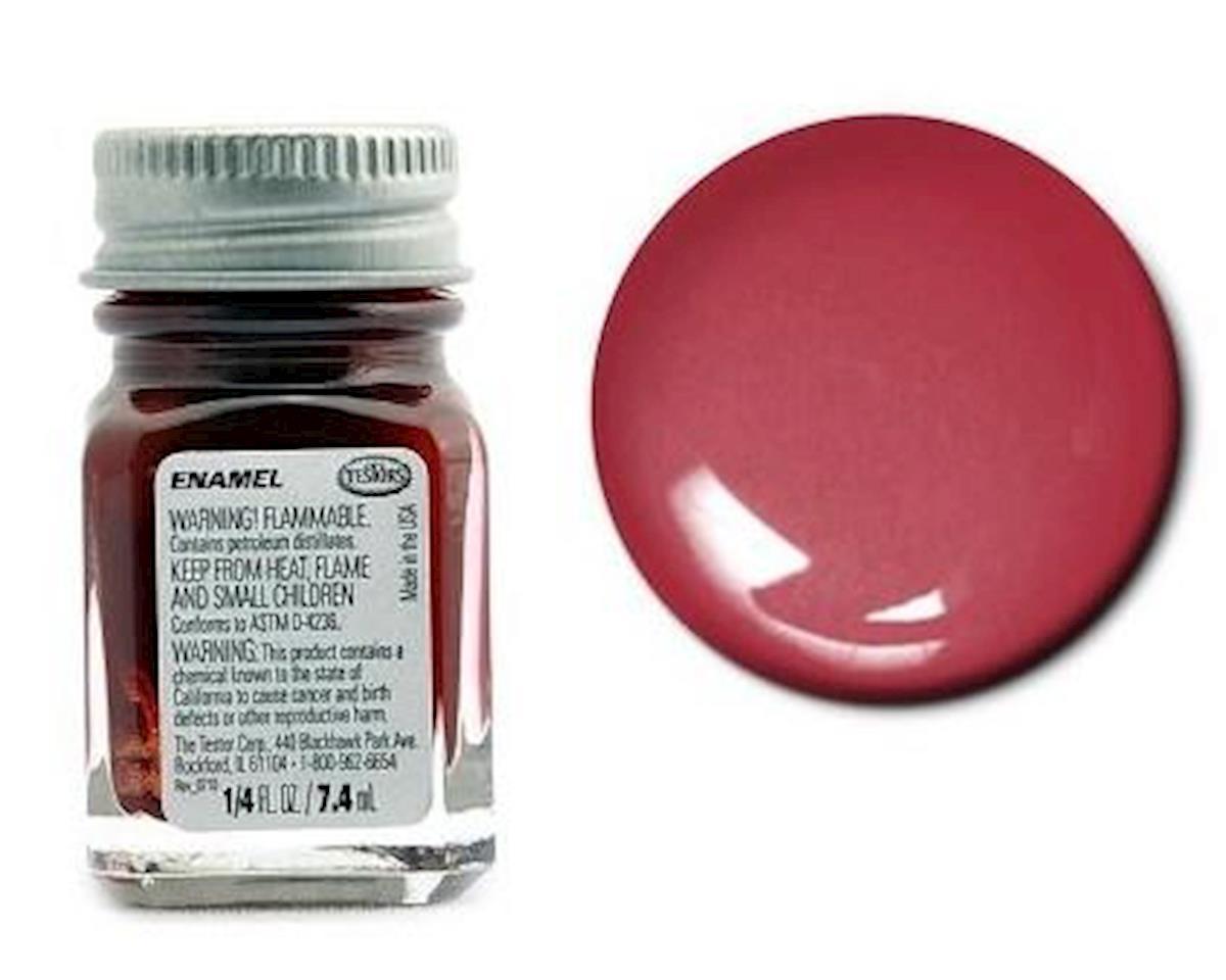 Enamel 1/4 oz Metal Flake Red by Testors