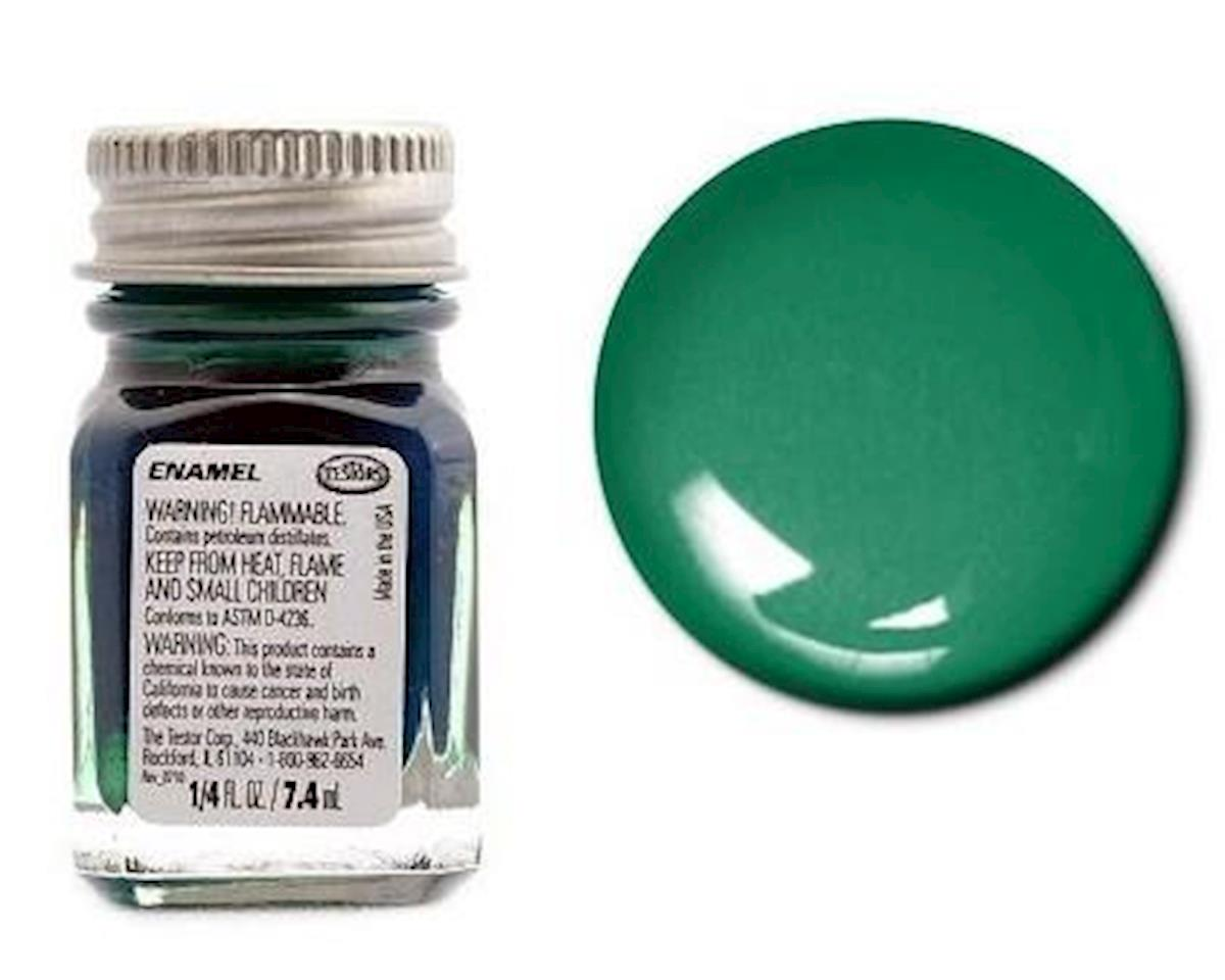 Enamel 1/4 oz Metal Flake Green by Testors