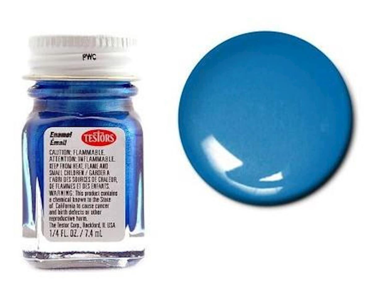 Testors Enamel 1/4oz Metal Flake Blue