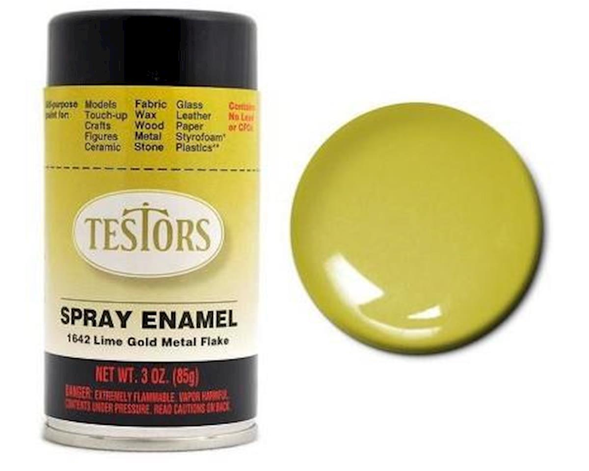 Testors Spray 3oz Lime Gold Metal Flak