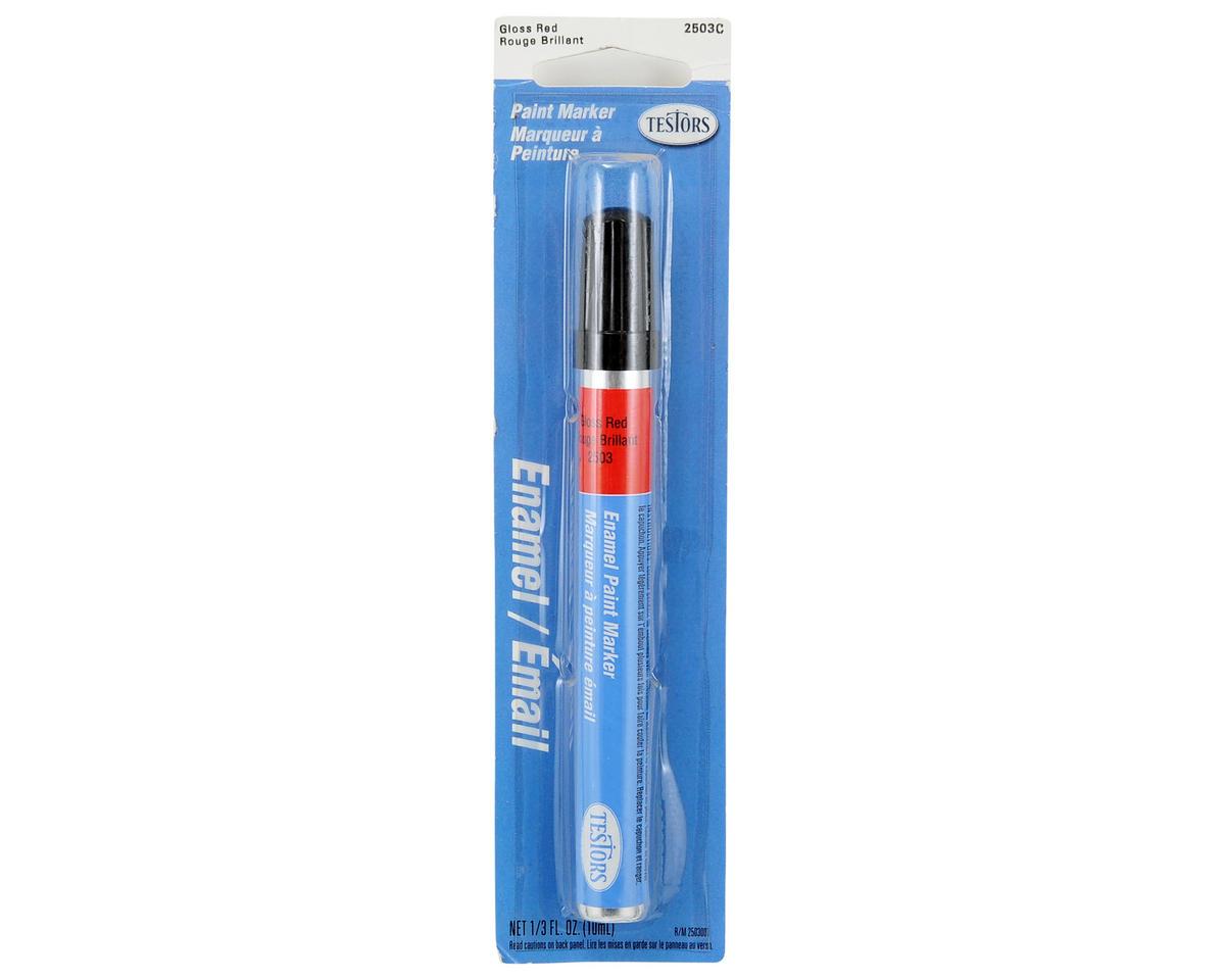 Gloss Enamel Paint Marker (Red) (10ml) by Testors
