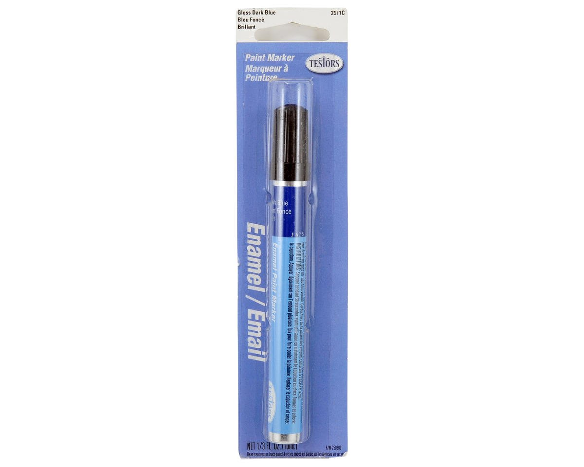 Testors Gloss Enamel Paint Marker (Dark Blue) (10ml)